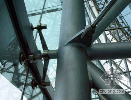 弧形幕墙测量放线施工工法(预应力索桁架 点支式)