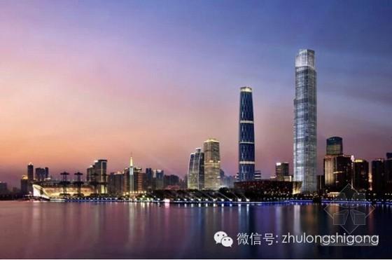 [广东] 巨型框架-核心筒结构530米摩天大楼的施工过程