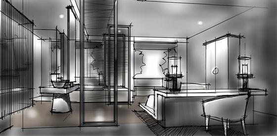 [北京]简约中式艺术酒店室内设计概念方案-[北京]简约中式风格艺术酒店室内设计概念方案客房效果图