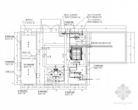 [内蒙古]某污水处理厂工艺施工设计图纸(生化污泥池、曝气生物滤池、鼓风机房)