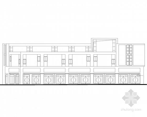 [宜昌]某商贸物流中心二层端头商铺建筑施工图(7号楼)