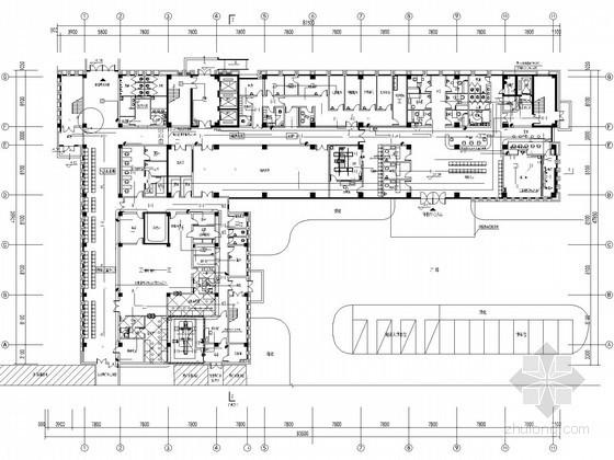 [山东]二甲医院综合楼病房强弱电施工图(系统全面 甲级设计院)