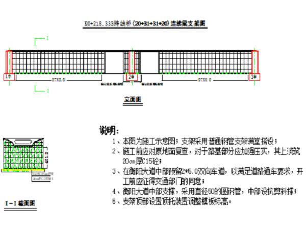 K0+218.333跨线桥现浇箱梁满堂支架施工方案