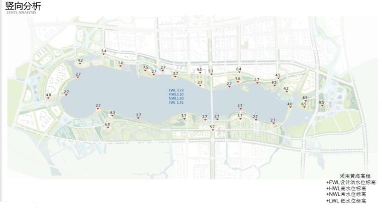 钱资湖景观概念规划设计方案文本-竖向分析
