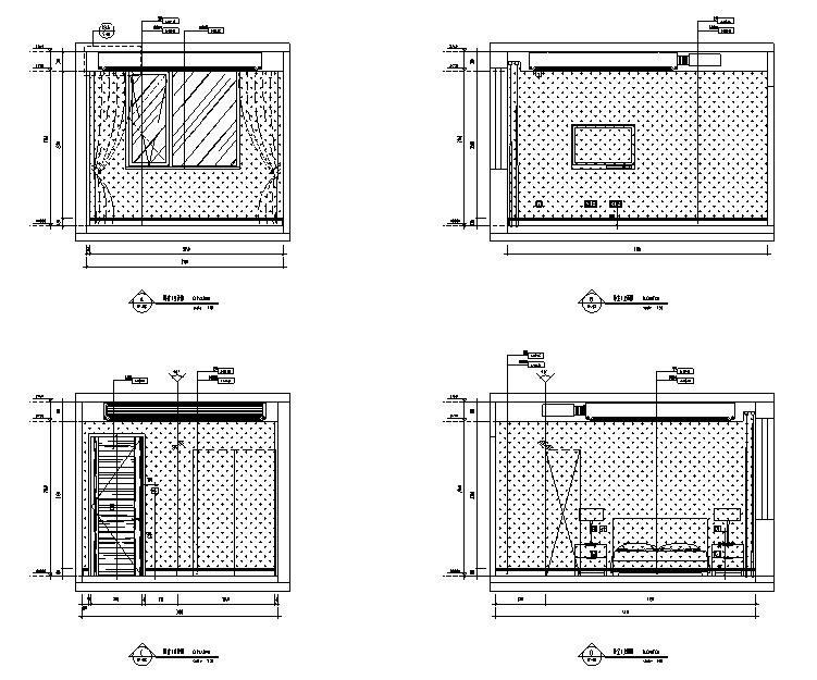 [北京]跃层户型精装样板间室内设计施工图(含效果图)_5