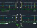 钢承板两层门式钢架厂房结构施工图