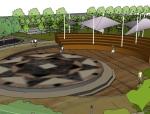 某城市广场景观设计SU模型