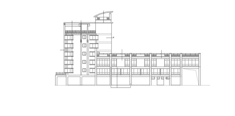 3套临城农贸市场建筑施工图(CAD文件及建筑设计说明书)