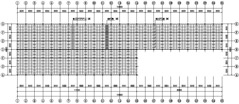 湖北门式刚架钢结构厂房施工图(CAD,12张)_3