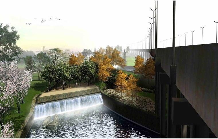 [江苏]苏州市沪宁高速公路西出入口景观规划方案设计(现代风格)-E段效果图4