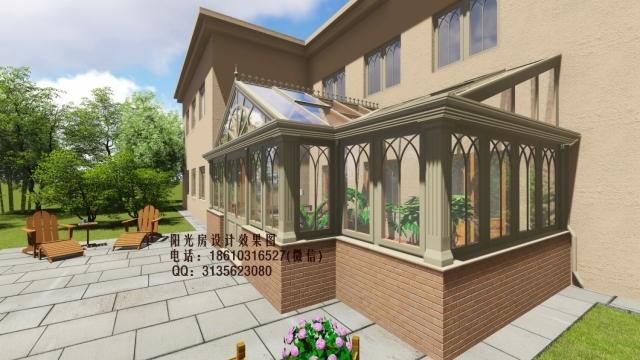 英式庭院阳光房设计效果图