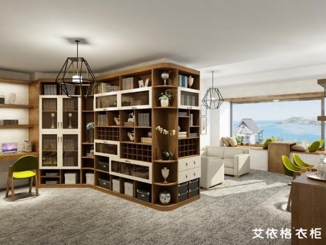 咖啡伴侣色板混搭的书房家具[艾依格]