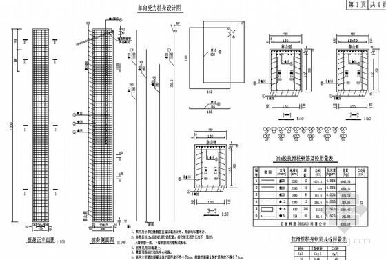 1.5m×2m抗滑桩及桩顶锚索设计图