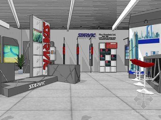 现代展览厅SketchUp模型下载