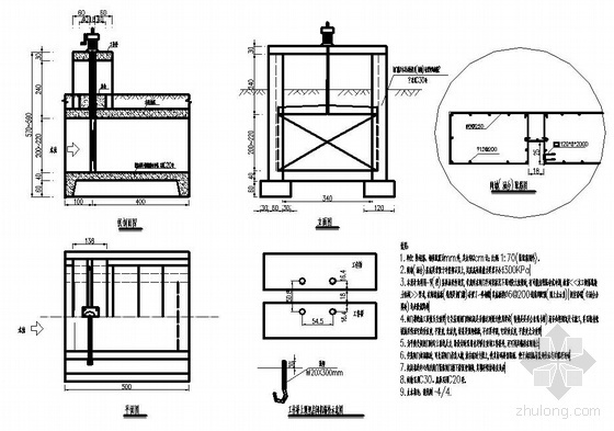 某市政工程涵洞式水闸设计图纸