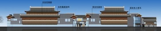 [山东]仿古风格步行商业街概念性修建规划设计方案文本(含CAD)-仿古风格步行商业街概念性修建规划立面图