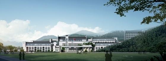 中式风格中学校园设计方案效果图