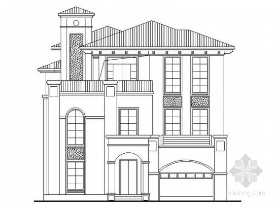 3层独栋欧式别墅施工图纸带效果图