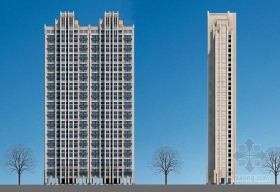 [陕西]artdeco风格住宅小区规划设计方案文本(知名设计院)-artdeco风格住宅小区规划立面图