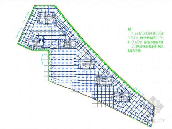 [浙江]城中村基坑钻孔灌注桩加一道混凝土支撑支护施工图