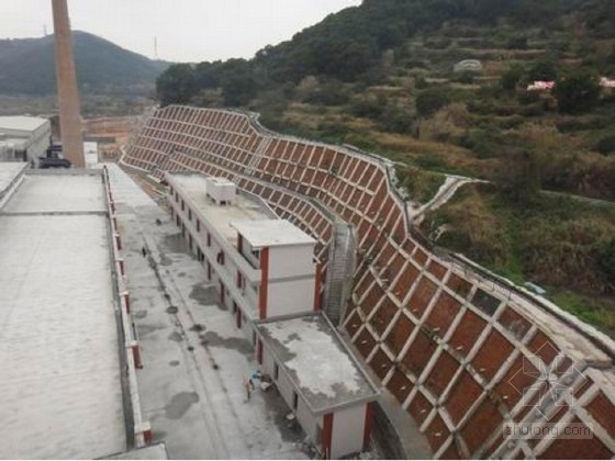 [贵州]物资储备库场地高边坡锚索框架梁支护设计方案