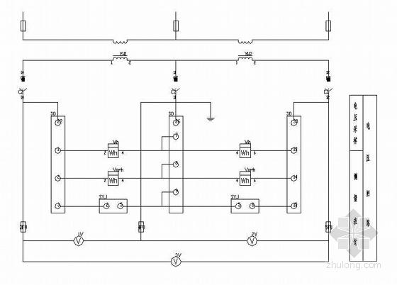12KV低压配电柜电气图纸