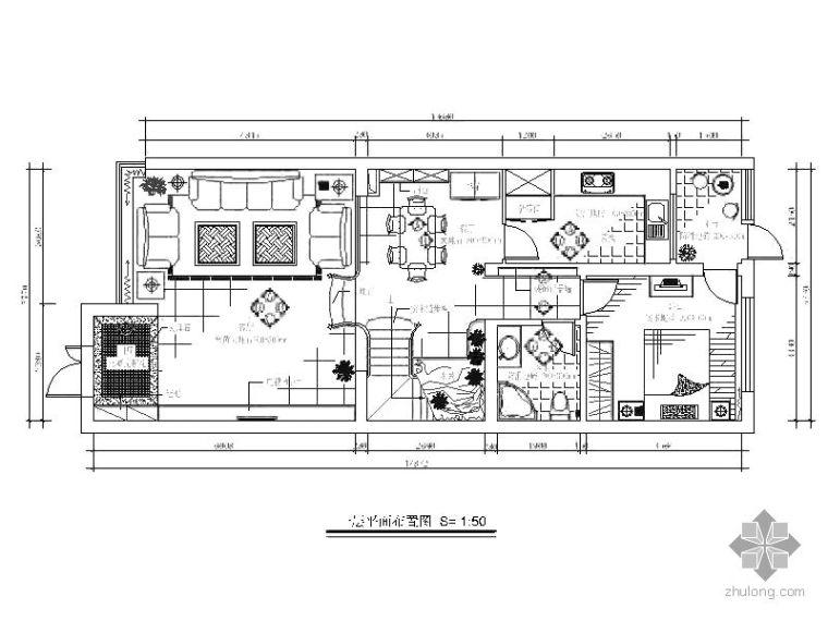 三层别墅空间平面装修图_1