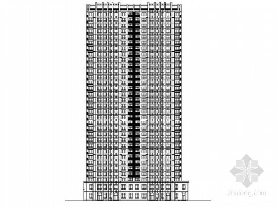 [辽宁]高层涂料外墙塔式住宅建筑施工图(含多套方案)