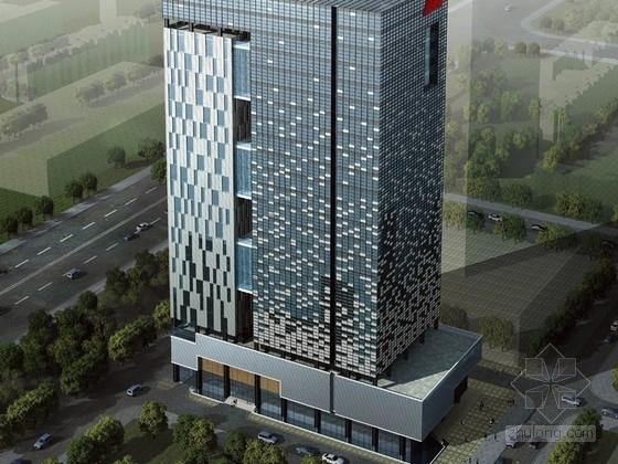 [深圳]某二十一层办公楼建筑设计方案文本