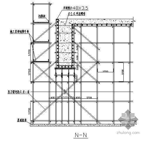 唐山某钢铁厂焦化工程焦台模板支撑施工方案(高5.5m)