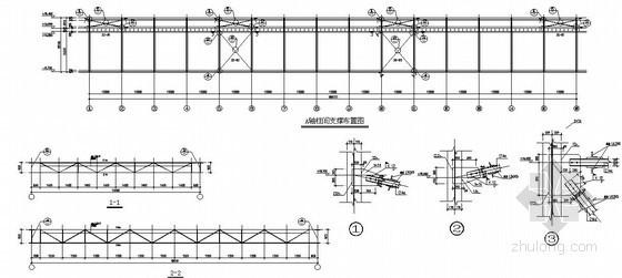 重钢结构厂房结构施工图(格构柱 100T吊车)