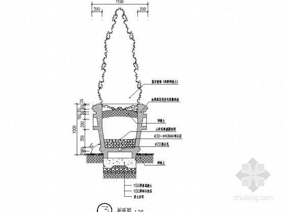 两种造型花钵施工图