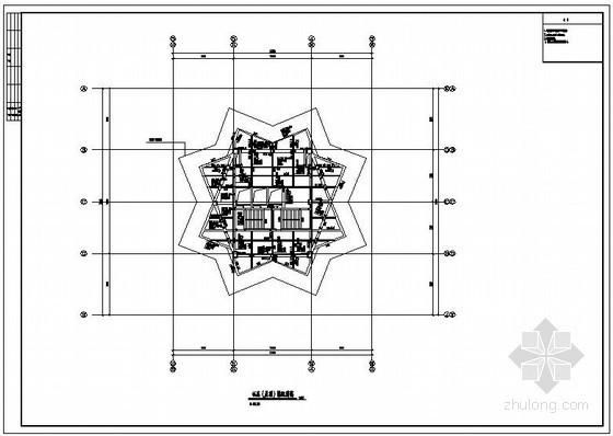 某商业步行街四十五层双子星大厦结构施工图(152米)