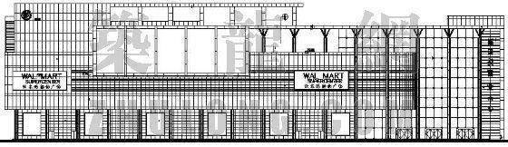 某地沃尔玛商场建筑施工图