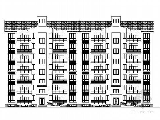 某七层坡屋顶住宅建筑施工图(南梯)