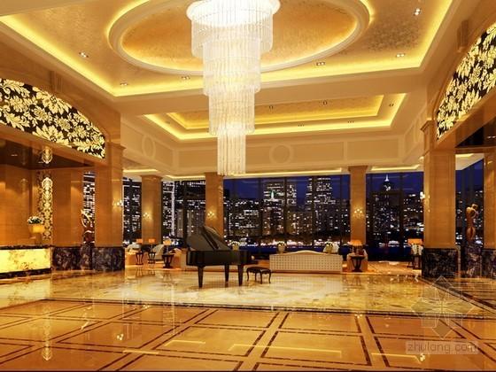 绿城度假大酒店大堂3d模型下载