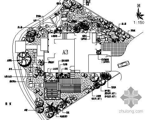 广东某别墅庭院施工图