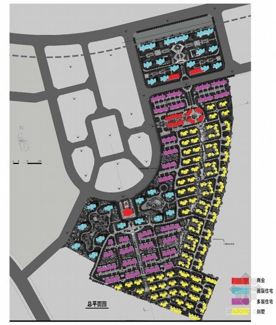 英式风格高档宜居别墅区规划设计分析图
