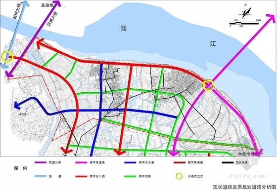 滨江中央商务区概念性规划分析图