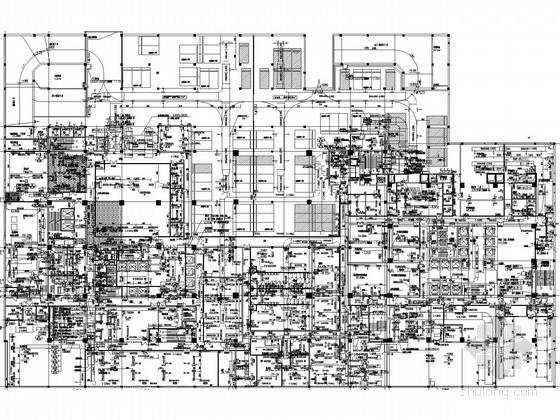 [武汉]超五星级酒店暖通空调全套设计施工图(换热站 锅炉房 制冷机房)