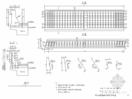 桥梁公用结构护栏通用设计图(28张)