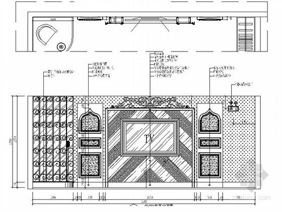 [汕头]原创典雅欧式风情KTV夜总会装修施工图(含效果)包厢立面图