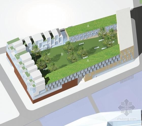 大型生态体育中心规划设计效果图