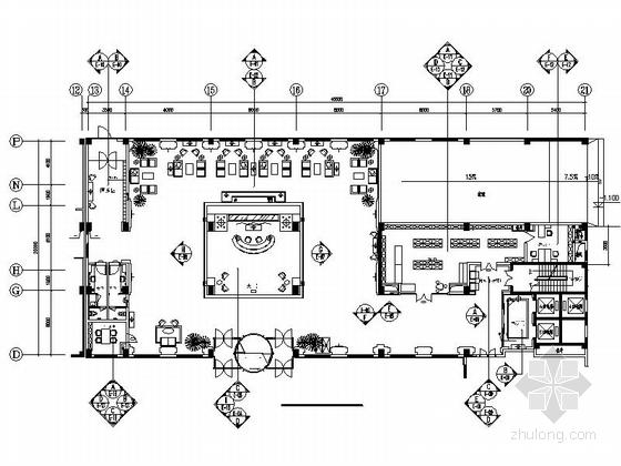 [北京]国际集团时尚现代商务酒店室内设计施工图(含效果图)