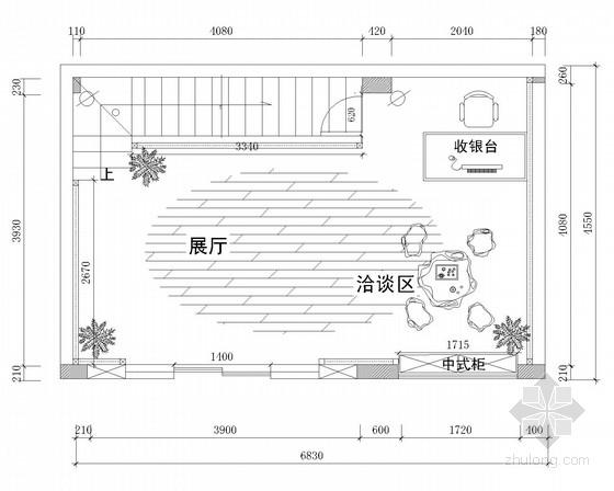 [深圳]新型文化创意企业中式风格办公室装修施工图(含效果)