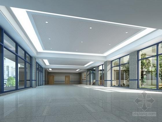 [江苏]省级产品质量检验事业单位现代检验楼装修施工图(含效果)门厅效果图
