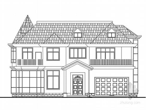 [新农村]2层花园式独栋别墅设计施工图(效果图)