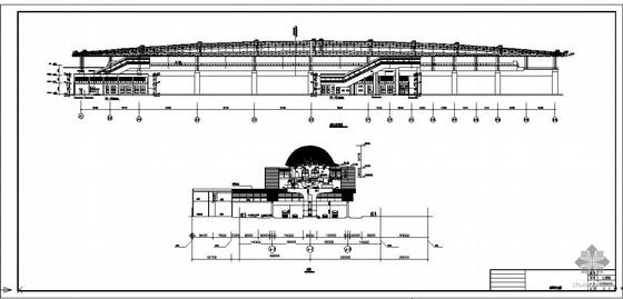 某火车站中间站台钢结构雨棚设计图