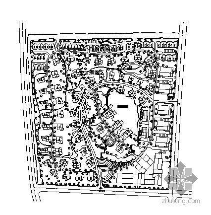 别墅小区的景观总体规划图