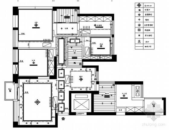 某两室两厅户型装修电气图纸